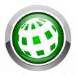 Earth icon — Stock Photo