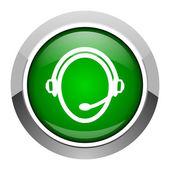 Icona di servizio di cliente — Foto Stock