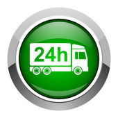 Delivery 24h icon — Stock Photo