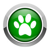 Animal footprint icon — Stock Photo