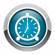 Alarm clock icon — Stock Photo