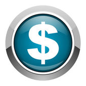 Us dollar icon — Stock Photo