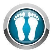 Footprint icon — Stock Photo