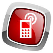 Cellphone icon — Stock Photo