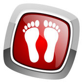 Icona di impronta — Foto Stock