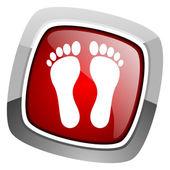 Fotavtryck ikonen — Stockfoto