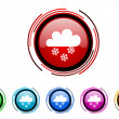 Snowing icon set — Stock Photo #27746981