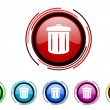 Recycle icon set  — Stock Photo