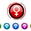 Stock Photo: Female gender icon set