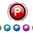 Park icon set — Stock Photo