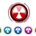 Radiation icon set — Stock Photo #27747169