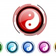 Ying yang icon set — Stock Photo #27747519