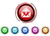 Upload icon set — Stock Photo