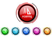 E-learning icon set — Stock Photo