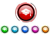 Graduation icon set — Stock Photo