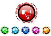 Dislike icon set — Stock Photo