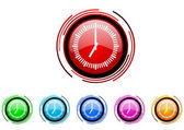 Clock icon set — Stock Photo