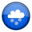 Snowing icon — Stock Photo #27790641
