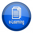 E-learning icon — Stockfoto