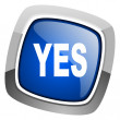 Yes icon — Stock Photo