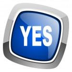 Yes icon — Stock Photo #27887065