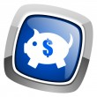 Piggy bank icon — Stock Photo #27887149