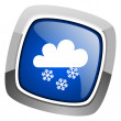 Snowing icon — Stock Photo #27887479