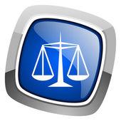 Justice icon — Stock Photo