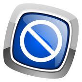 Ikona odmowa dostępu — Zdjęcie stockowe