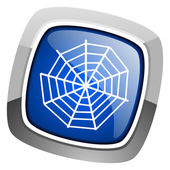 Spider web icon — Stock Photo