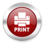 Ícone de impressão — Fotografia Stock