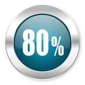 80 percent icon — Stock Photo