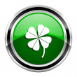 Stock Photo: Four-leaf clover icon