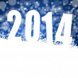 Stock Photo: 2014 new year illustration with snowflakes