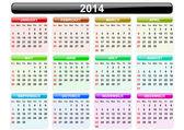 Calendario 2014 — Foto Stock