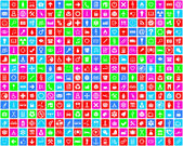 Colorful icons background — Stock Photo