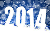 2014 new year illustration with snowflakes — Stock Photo