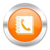Phonebook icon — Stock Photo