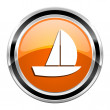 Stock Photo: Yacht icon