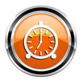 目覚まし時計アイコン — ストック写真