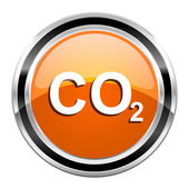 Carbon dioxide icon — Stockfoto