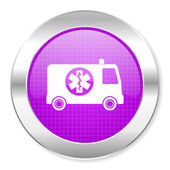 Ambulance icon — Stock Photo