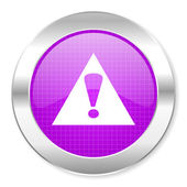 Warning icon — Stock Photo