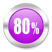 80 percent icon — Stockfoto