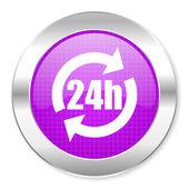 24h icon — Stock Photo