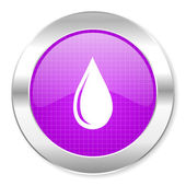 Water drop icon — Stock Photo