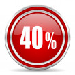 40 percent icon — Stock Photo