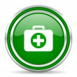 First aid kit icon — 图库照片