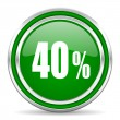 Stock Photo: 40 percent icon