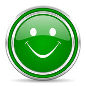 Smile icon — Stock Photo